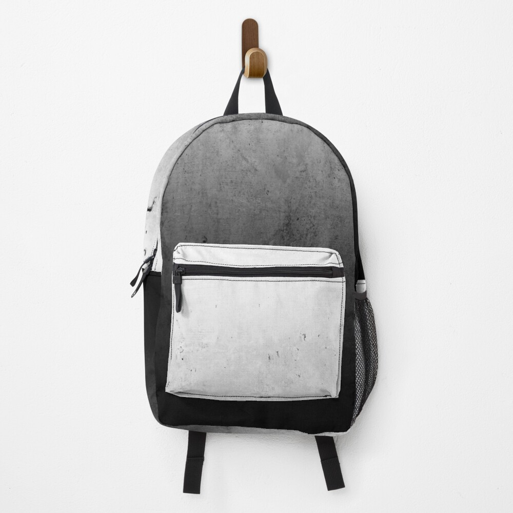 Black Ombre on Concrete Texture Backpack