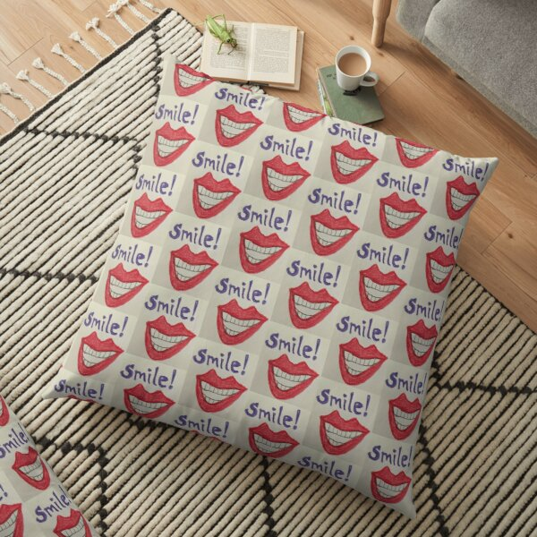 Smile! Floor Pillow