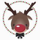 FESTIVE CHRISTMAS T-SHIRT :: rudolph the red nosed reindeer by Kat Massard