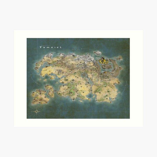 Tamriel Map Art Print