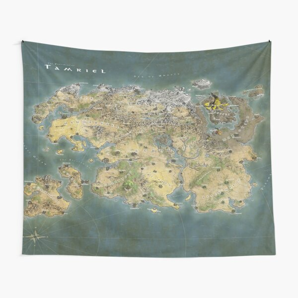Tamriel Map Tapestry