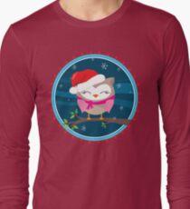 FESTIVE CHRISTMAS T-SHIRT :: girl owl night time Long Sleeve T-Shirt