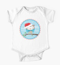 FESTIVE CHRISTMAS T-SHIRT :: boy owl day time One Piece - Short Sleeve