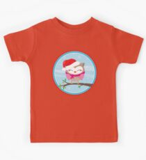 FESTIVE CHRISTMAS T-SHIRT :: girl owl day time Kids Clothes