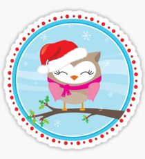 FESTIVE CHRISTMAS T-SHIRT :: girl owl day time Sticker