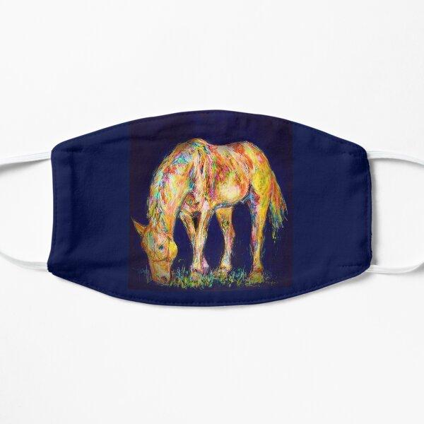 Ein buntes Pferd Maske