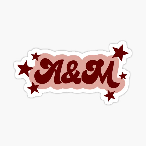 Retro Starry A&M Sticker