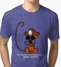 Coffee Monkey - Double Shot Tri-blend T-Shirt