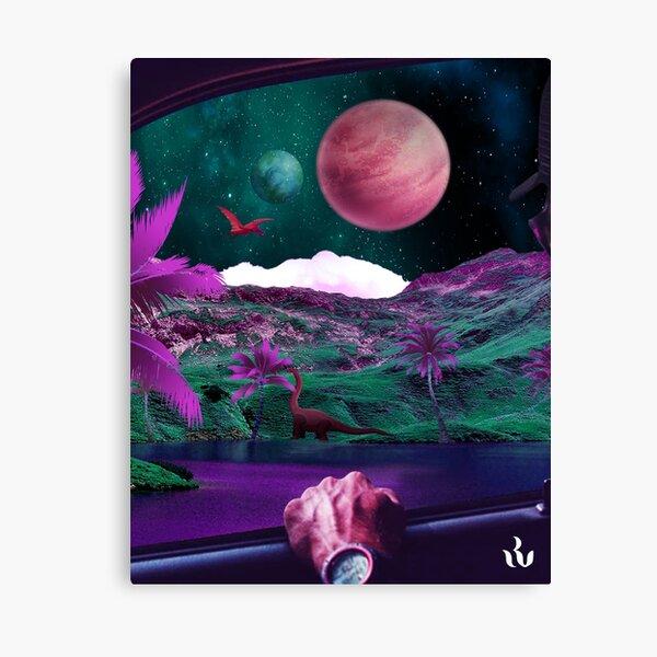 Planète des dinosaures Impression sur toile