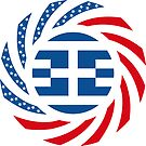 Greek American Multinational Patriot Flag Series by Carbon-Fibre Media
