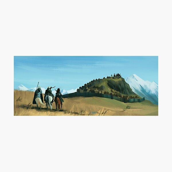 Fantasy mountain landscape Photographic Print