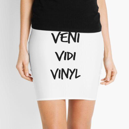 Veni Vidi Vinyl Mini Skirt