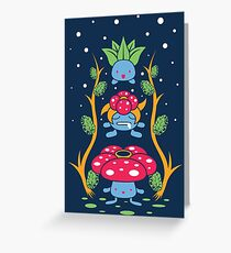 Kanto Forest Greeting Card