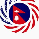 Nepalese American Multinational Patriot Flag Series by Carbon-Fibre Media