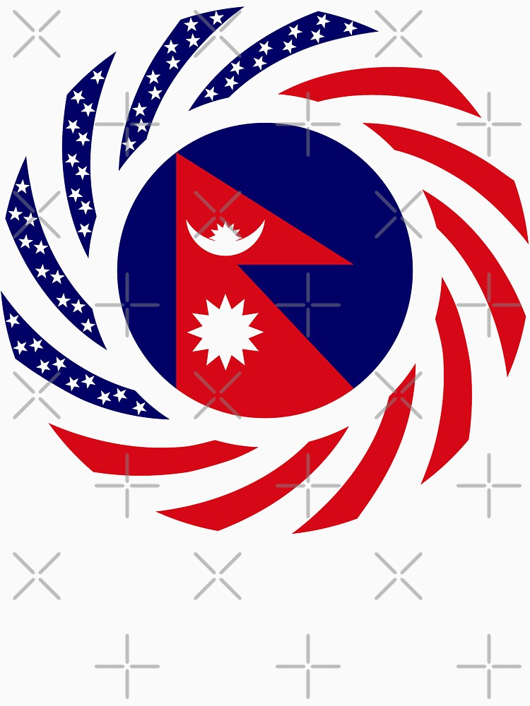 Nepalese American Multinational Patriot Flag Series by carbonfibreme