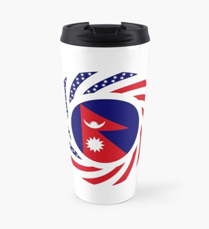 Nepalese American Multinational Patriot Flag Series Travel Mug