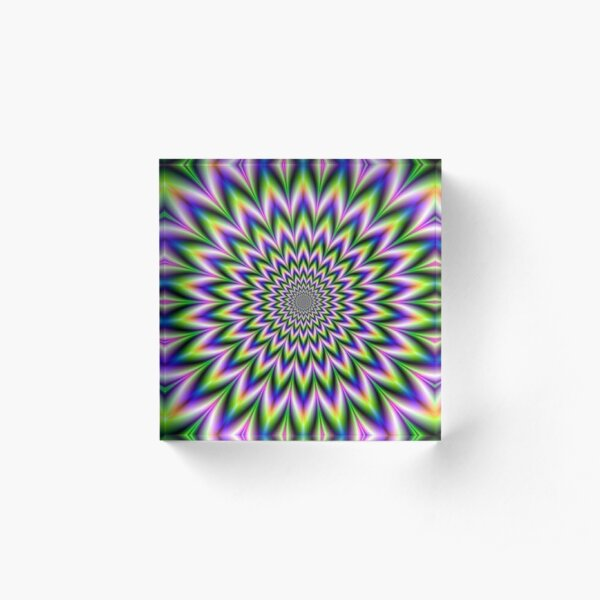 Psychedelic, Optical art, Op art, Vibration Acrylic Block