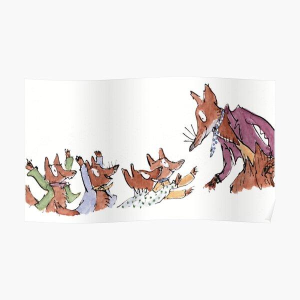 roald dahl fantastic fox Poster