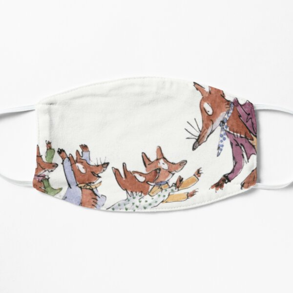roald dahl fantastic fox Flat Mask