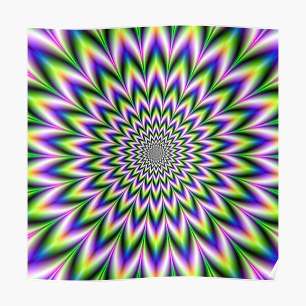 Psychedelic, Optical art, Op art, Vibration Poster