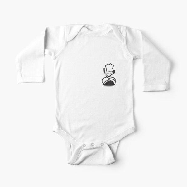 Swirl chef Long Sleeve Baby One-Piece