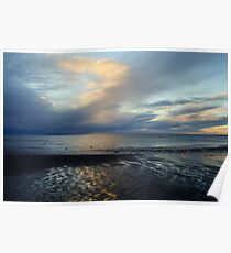 Winter Sunset in Blue Poster