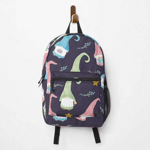 Modern Swedish Gnomes Pattern Backpack