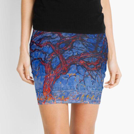 Mondrian - Evening Red Tree - Piet Mondrian Mini Skirt