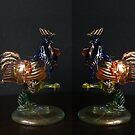 Fighting Coqs - Murano Glass by Gilberte