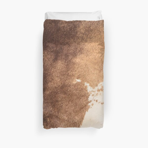 Old Tan Cowhide Leather Duvet Cover