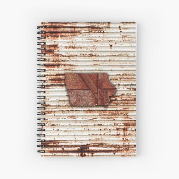 Red Rust Iowa State Shape Spiral Notebook