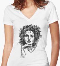 Icon: Helena Bonham Carter Women's Fitted V-Neck T-Shirt