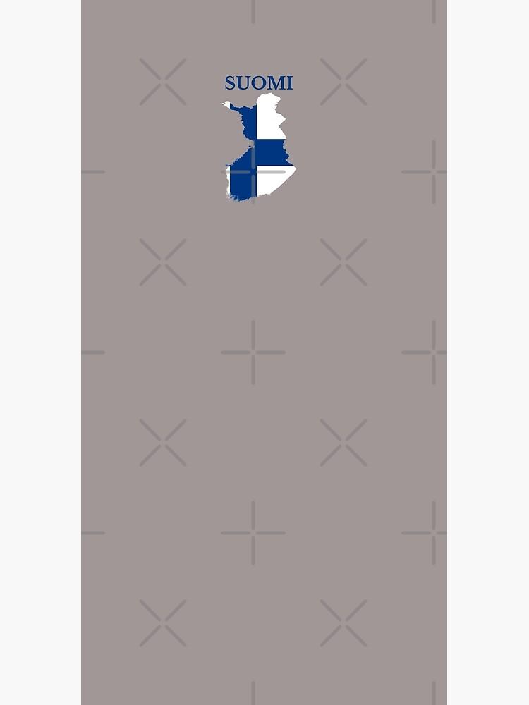 Finland flag map by marosharaf