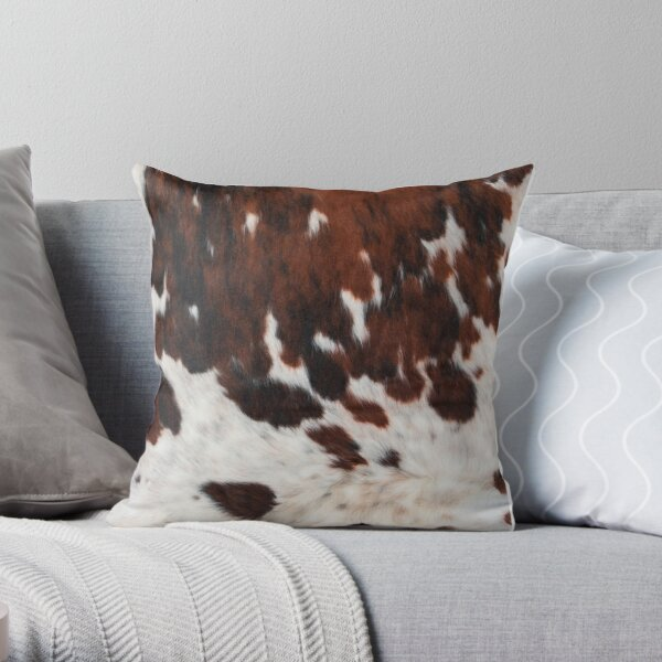 Decorative Rusty Cattle Cowhide Throw Pillow