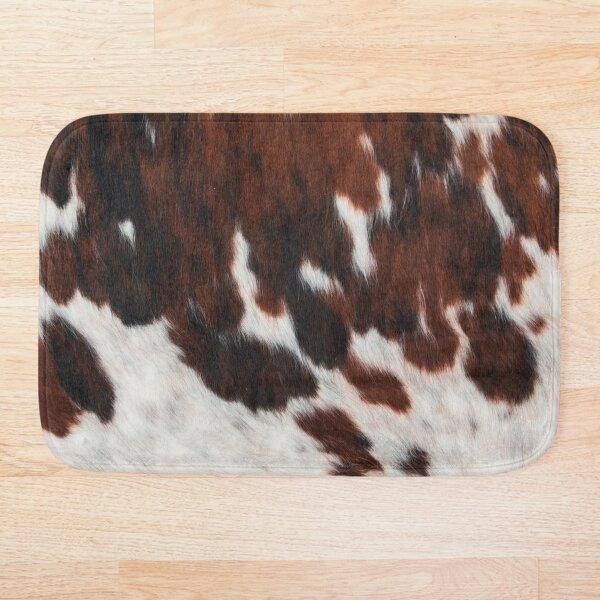 Decorative Rusty Cattle Cowhide Bath Mat