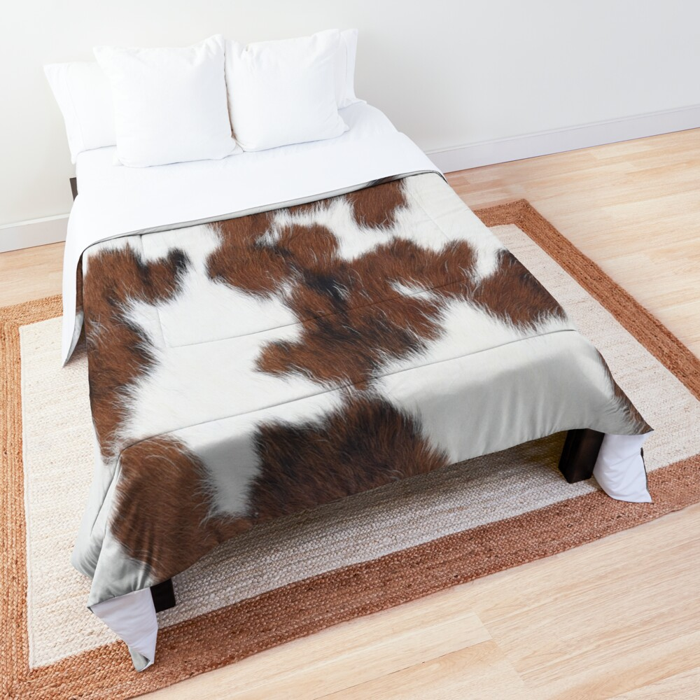 Brown Spotted Cowhide Comforter