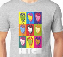 Christopher Hitchens - poster boy of atheism? (dark) Unisex T-Shirt