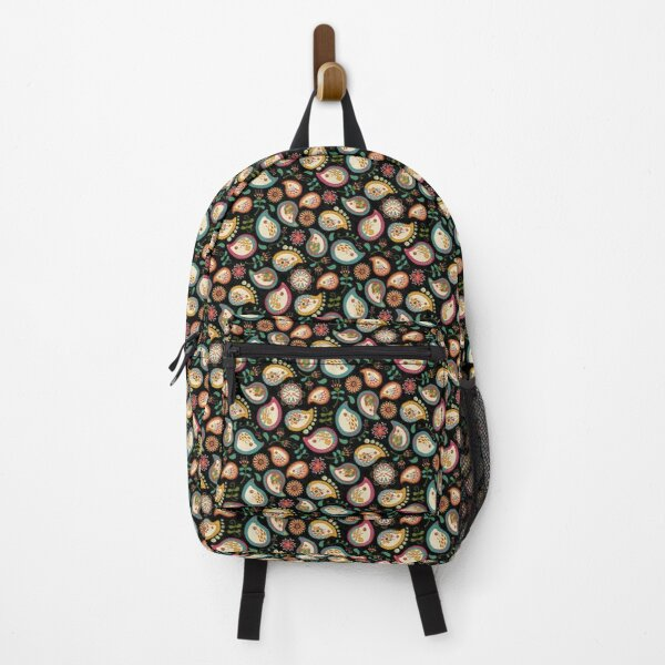 Hedgehog Paisley_Party Colors Backpack