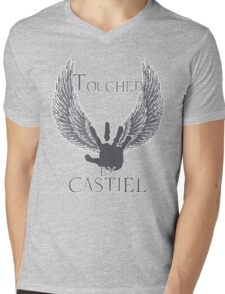 Touched By Castiel (#2) Mens V-Neck T-Shirt