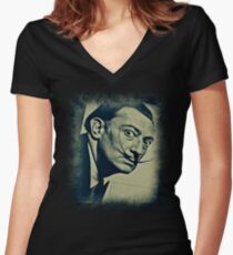 DALI Women's Fitted V-Neck T-Shirt