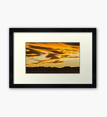 Sunset From The Planet Of Golden Dreams Framed Print