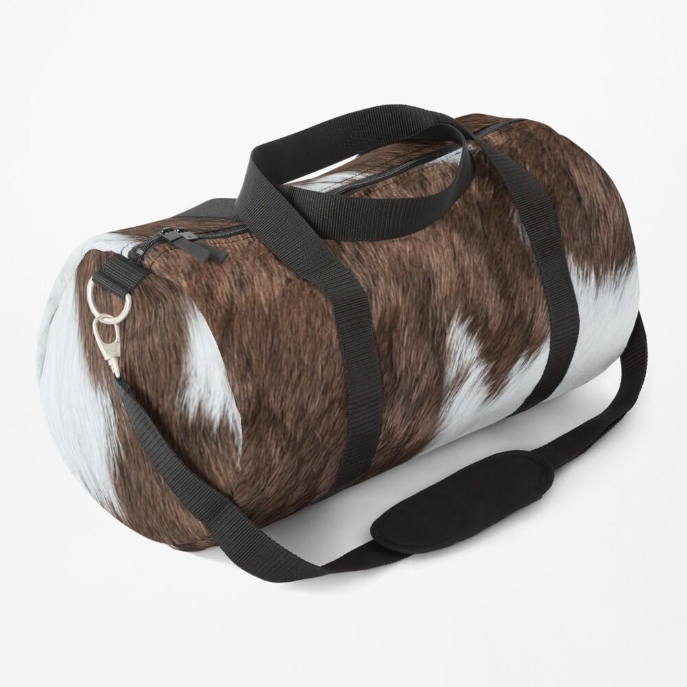 Cowhide Patch Duffle Bag