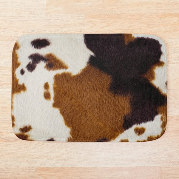 Spotted Cowhide Bath Mat
