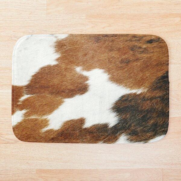 Cow Faux Fur Bath Mat