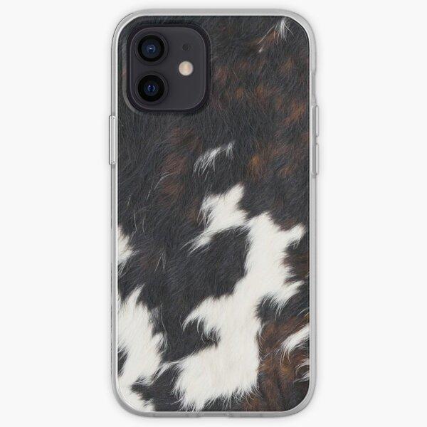 Manchas de piel de vaca Funda blanda para iPhone
