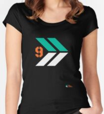 Arrows 1 - Emerald Green/Orange/White Women's Fitted Scoop T-Shirt