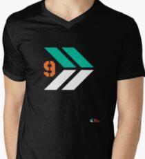 Arrows 1 - Emerald Green/Orange/White Mens V-Neck T-Shirt