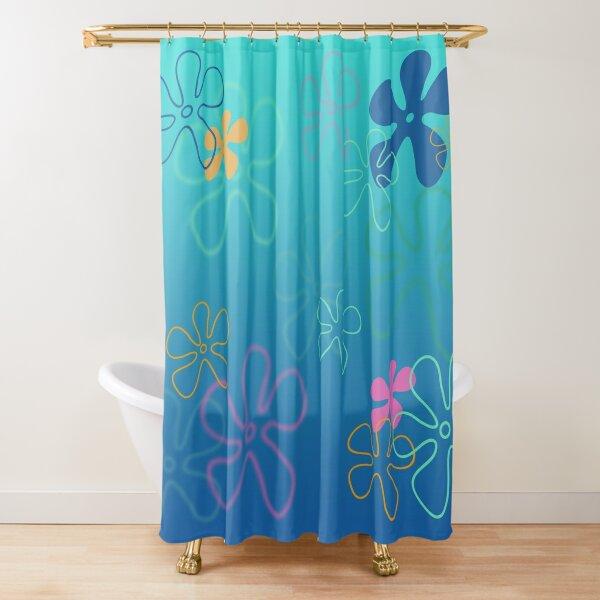 spongebob inspired flowers Shower Curtain