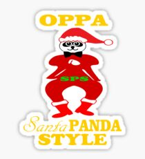 ★ټOppa Santa-Panda Style Hilarious Clothing & Stickersټ★ Sticker