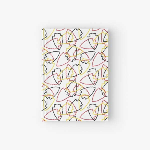 Chiefs Arrowhead Pattern on White Hardcover Journal